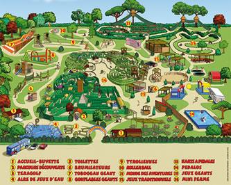 plan du parc Teraventure